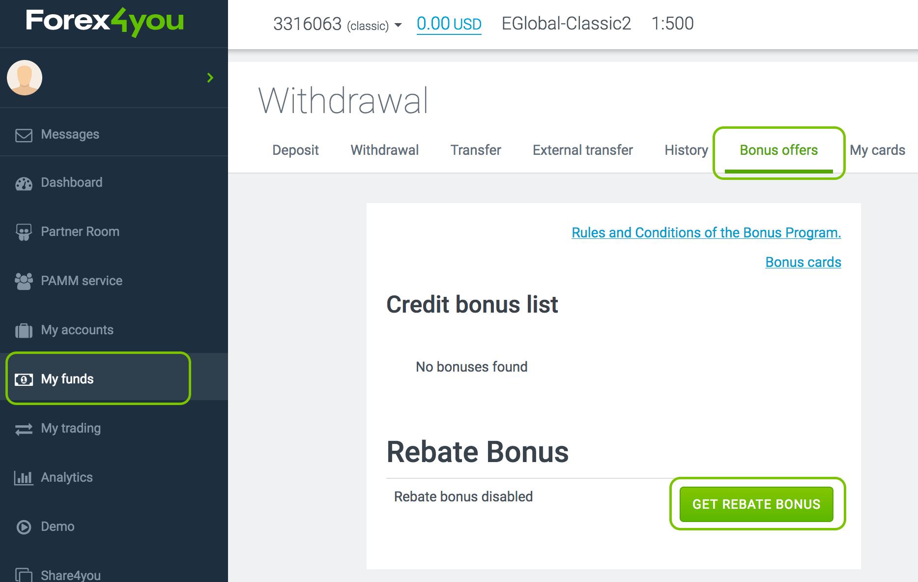 Get rebate bonus