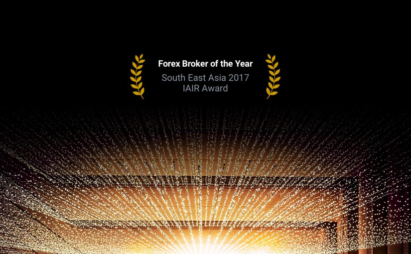 dark image with light from stage, Forex4you IAIR award 2017