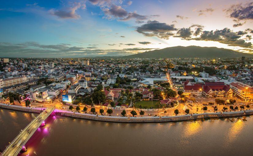 Pemandangan panorama di cityscape, Forex4you membuka pejabat di Chiang Mai, Thailand