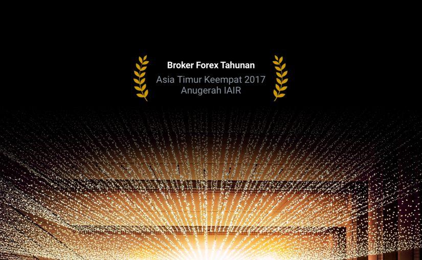 Imej gelap dengan cahaya dari panggung, anugerah Forex4you IAIR 2017