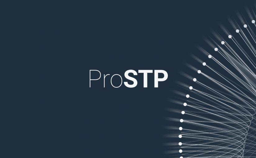 Hình ảnh màu xanh đậm với hoa văn tóm tắt màu trắng và văn bản Pro STP